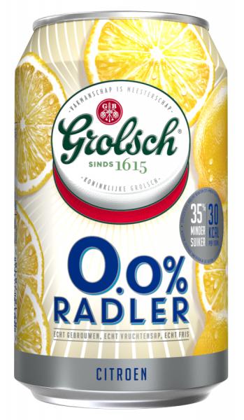 Grosspackung Grolsch Radler Zitrone Alkoholfrei 0%  24 x 0,33 l = 7,92 Liter