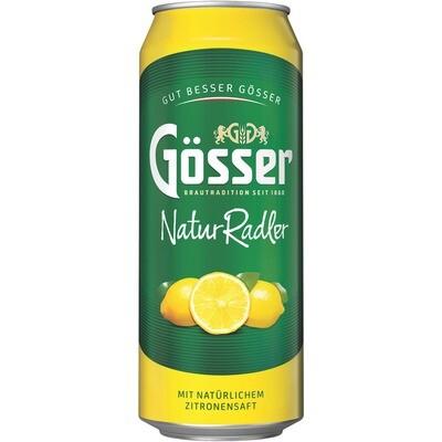 Grosspackung Gösser Naturradler Zitrone 24 x 0,5 l = 12 Liter