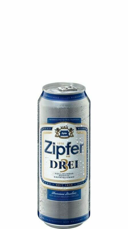 Grosspackung Zipfer Drei Bier aus Österreich 24 x 0,5 l = 12 Liter