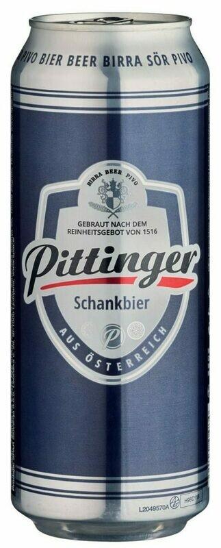Grosspackung Pittinger Schankbier aus Österreich 24 x 0,5 l = 12 Liter