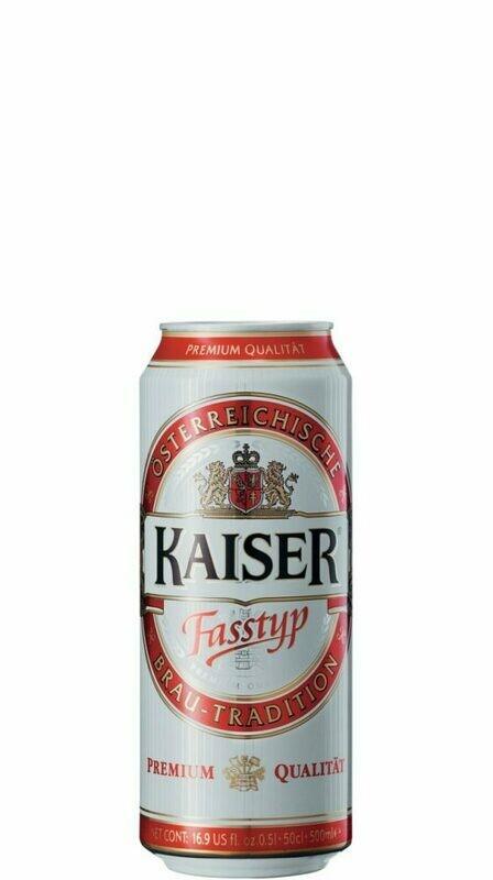 Grosspackung Kaiser Fasstyp Bier aus Österreich 24 x 0,5 l = 12 Liter