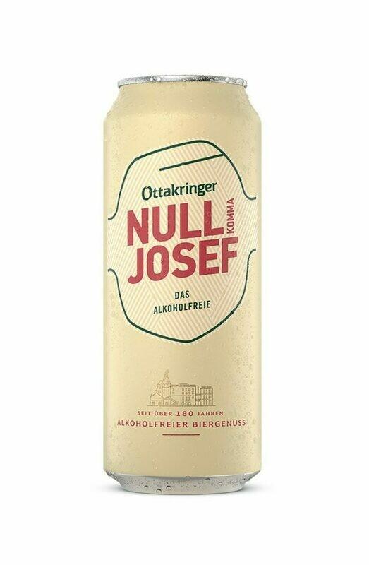 Grosspackung Ottakringer Nullkomma Josef Alkoholfreies Bier aus ÖSTERREICH 24 x 0,5 l = 12 Liter