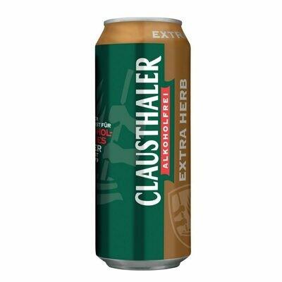 Grosspackung Clausthaler Extra Herb Bier alkoholfrei 24 x 0,5 l = 12 Liter