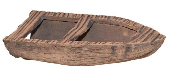 CeramicNature Terrarium Dekoration Boot 17,5 cm Keramik braun