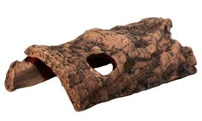 CeramicNature Terrarium Baumrinde 18 x 10 cm Keramik braun