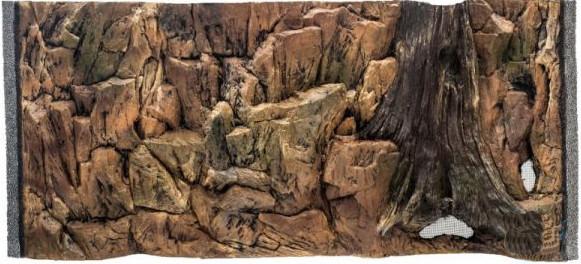 CeramicNature Terrarium Rückwand Standard 96,5 cm Mineralharz braun