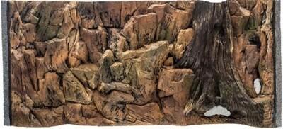 CeramicNature Terrarium Rückwand Standard 57,5 cm Mineralharz braun
