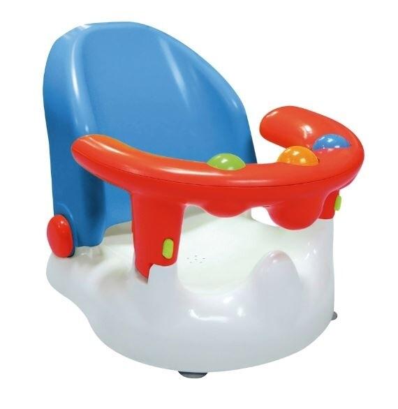 Saro Baby- Badewannensitz blau/rot, 38 cm
