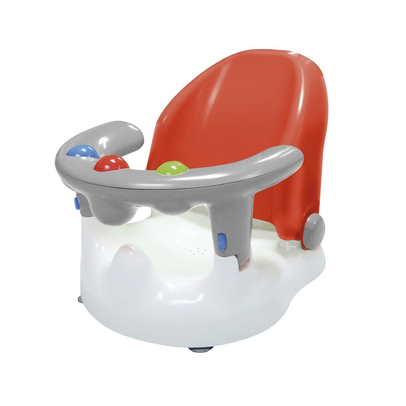 Saro Baby- Badewannensitz rot/grau, 38 cm