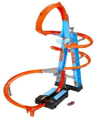 Hot Wheels Rennbahn Sky Crash Tower61 cm blau/orange 62-teilig
