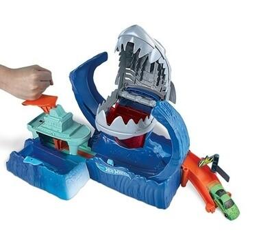 Hot Wheels Rennstrecken-Set City Robo Shark Frenzy