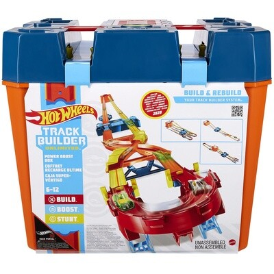Hot Wheels Runway Track Builder Box 34 x 31 cm, blau/orange