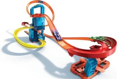 Hot Wheels Booster-Set Track Builder, 127 cm blau 22-teilig