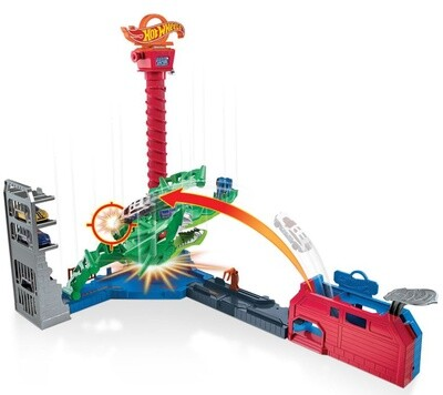 Hot Wheels Spielset City Air Attack Drachen, 5-teilig