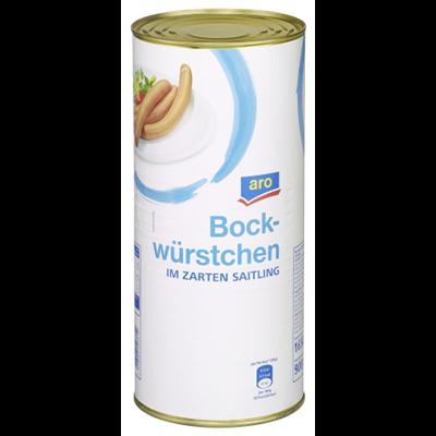 Grosspackung aro Bockwurst im Saitling 6 x 1650 g = 9,9 kg