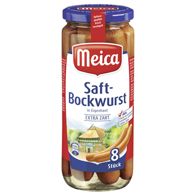 Grosspackung Meica Saftbockwurst - 6 x 360 g Glas = 2,16 kg