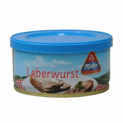Grosspackung Leberwurst Metten 6 x 125 g = 0,75 kg
