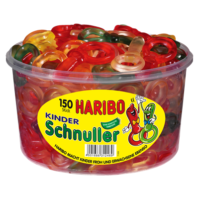 Grosspackung Haribo Süße Schnuller 150 Stück - 1,35 kg Dose