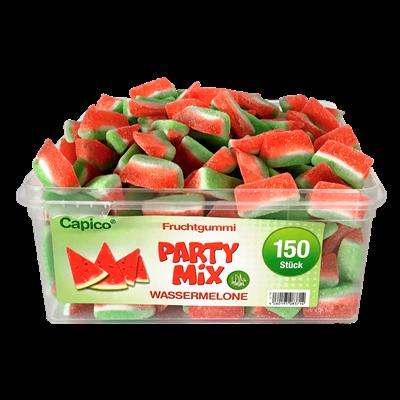 Grosspackung Tise HALAL Capico Fruchtgummi Wassermelone 150 Stück - 1 kg Dose