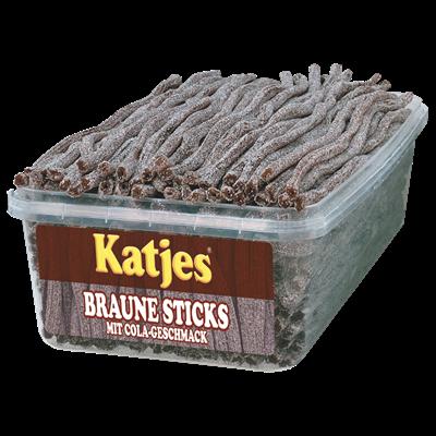 Grosspackung Katjes Braune Sticks Cola - 1 kg Packung
