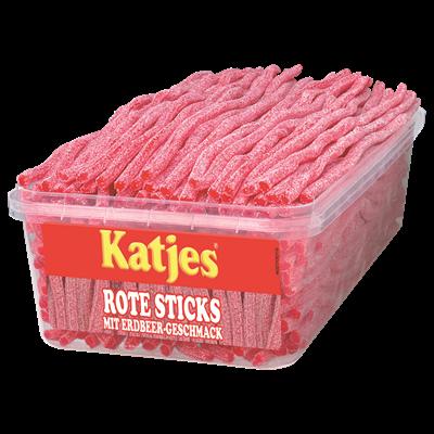 Grosspackung Katjes Sticks Erdbeere - 1 kg Packung
