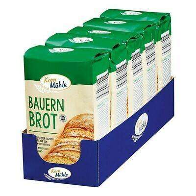 Grosspackung Kornmühle Backmischung Bauernbrot 5 x 1 kg = 5 kg