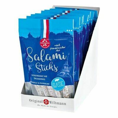 Grosspackung Wiltmann Salami Sticks classic 100 g, 8er Pack = 0,8 kg