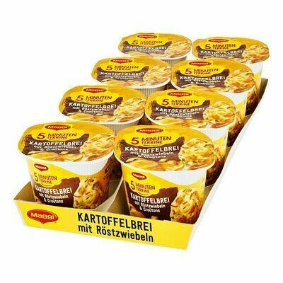 Grosspackung Maggi 5 Minuten Terrine Kartoffelbrei mit Röstzwiebeln 56 g, 8er Pack = 0,448 kg