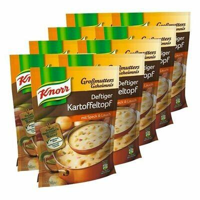 Grosspackung Knorr Großmutters Geheimnis Deftiger Kartoffeltopf ergibt 0,6 Liter, 9er Pack