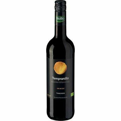 Grosspackung Bio Tempranillo Vino de la Tierra de Castilla 12,5 % vol 6 x 0,75 Liter = 4,5 Liter