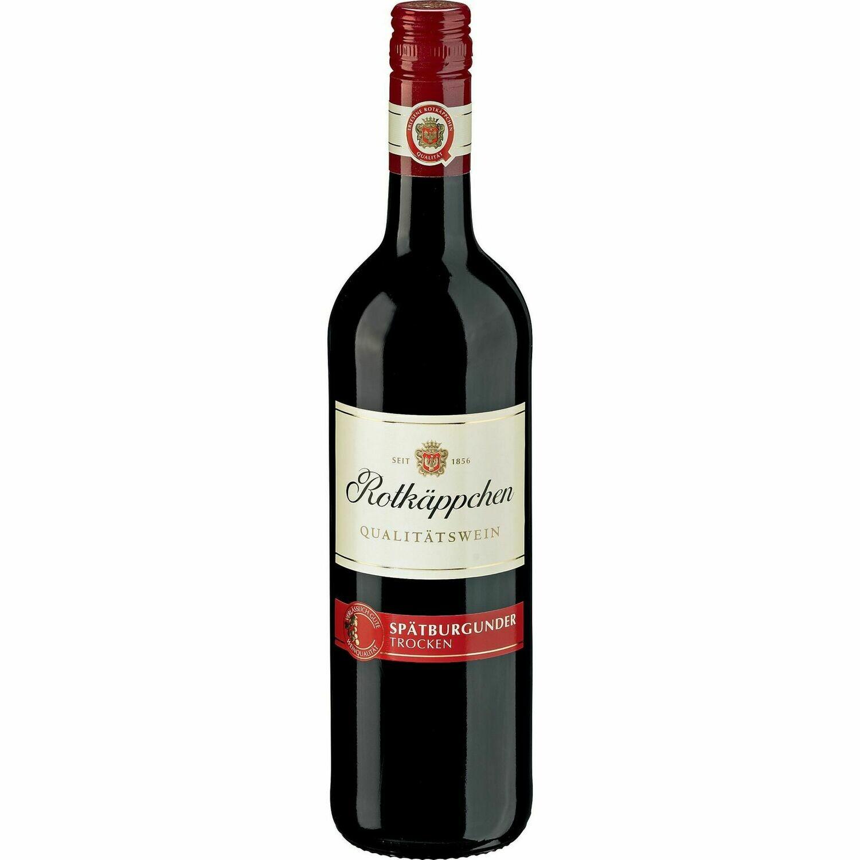 Grosspackung Rotkäppchen Spätburgunder / Blauburgunder / Pinot Noir rot Qualitätswein 12,0 % vol 6 x 0,75 Liter = 4,5 Liter