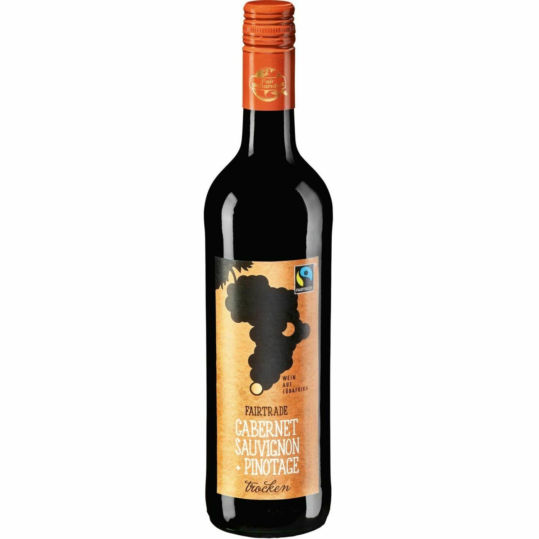 Grosspackung Fair Trade Cabernet Sauvignon Pinotage Western Cape 12,5 % vol. 6 x 0,75 Liter = 4,5 Liter