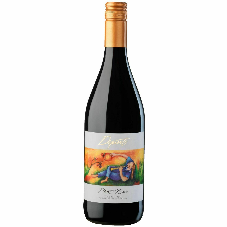 Grosspackung Dipinti Pinot Nero Trentino DOC 12,5 %  6 x 0,75 Liter = 4,5 Liter