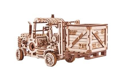 Wood Trick Modell Gabelstapler mit Sparschwein-Holz 31,5 x 11,5 cm