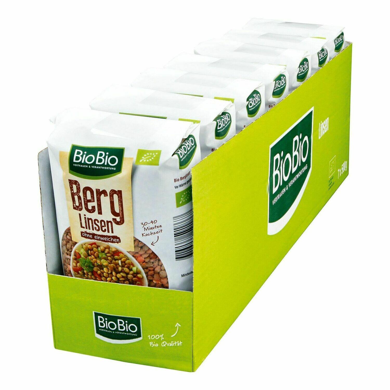 Grosspackung BioBio Berg Linsen 500g, 7er Pack = 3,5 kg