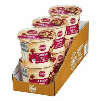 Grosspackung Clarky`s Studentenfutter mit Cranberries 275 g, 6er Pack = 1,65 kg