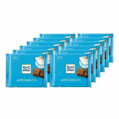 Restposten Grosspackung Ritter Sport Alpenmilch Schokolade 100 g, 5er Pack = 0,5 kg