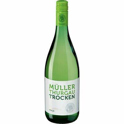 Grosspackung Müller Thurgau Qualitätswein trocken 11,0 % vol 6 x 1 Liter = 6 Liter