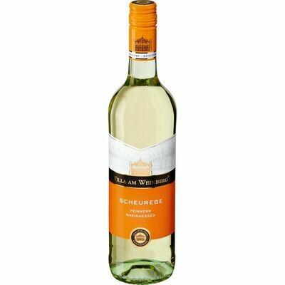 Grosspackung Villa am Weinberg Scheurebe Qualitätswein Reinhessen feinherb 11,0 % vol 6 x 0,75 Liter = 4,5 Liter