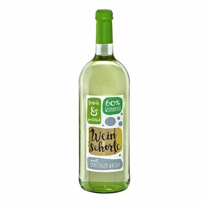 Grosspackung Weinschorle weiss 6,0 % vol 6 x 1,0 Liter = 6 Liter