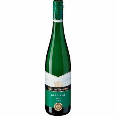 Grosspackung Villa am Weinberg Spätlese weiss Prädikatswein Pfalz 9,5 % vol6 x 0,75 Liter = 4,5 Liter