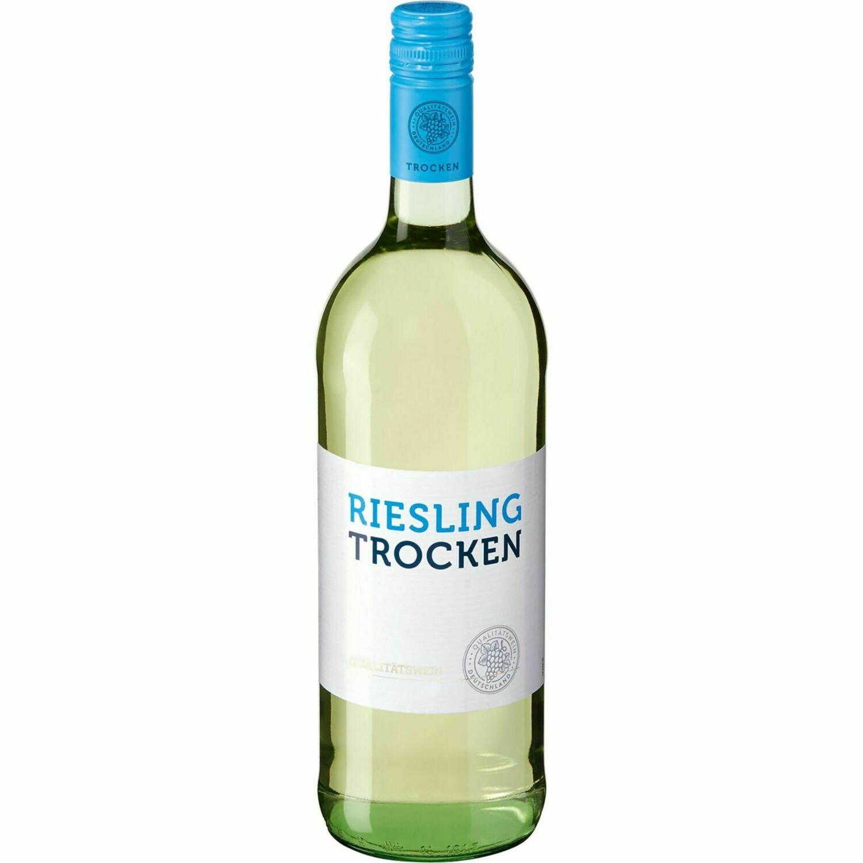 Grosspackung Riesling Qualitätswein trocken 11,5 % vol 6 x 1 Liter = 6 Liter