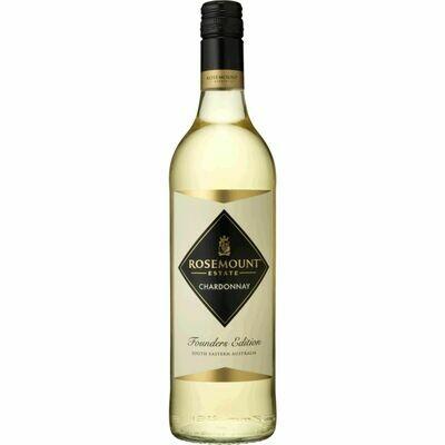Grosspackung Rosemount Estate Founders Edition Chardonnay South Eastern Australia 13,5 % vol 6 x 0,75 Liter = 4,5 Liter