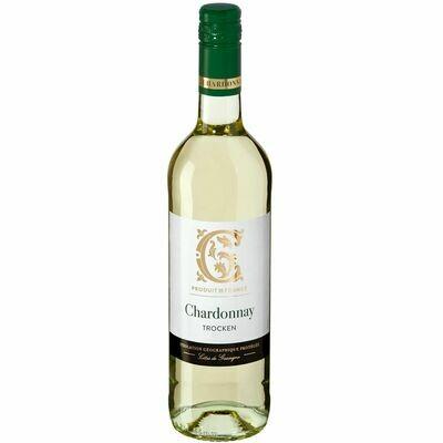 Grosspackung Chardonnay Côtes de Gascogne IGP 13,0 % vol 6 x 0,75 Liter = 4,5 Liter