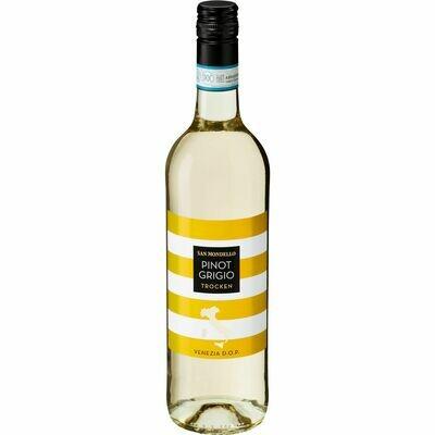 Grosspackung San Mondello Pinot Grigio Venezia DOP 12,0 % vol 6 x 0,75 Liter = 4,5 Liter