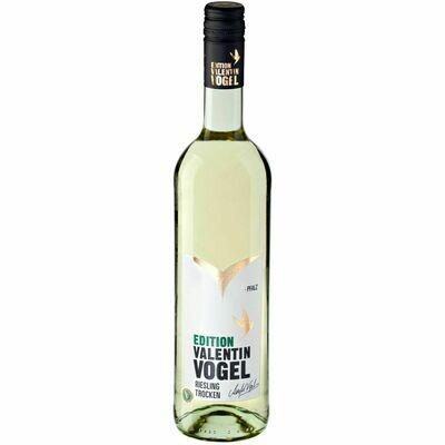 Grosspackung Edition Valentin Vogel Riesling Qualitätswein Pfalz trocken 13,0 % vol  6 x 0,75 Liter = 4,5 Liter
