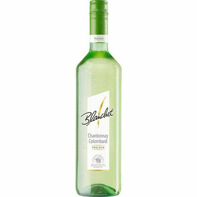 Grosspackung Blanchet Chardonnay Colombard Vin de France trocken 12,0 % vol 6 x 0,75 Liter = 4,5 Liter