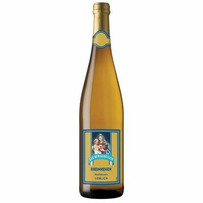 Grosspackung Liebfraumilch Qualitätswein Rheinhessen weiß 9,50 % vol 6 x 0,75 Liter = 4,5 Liter