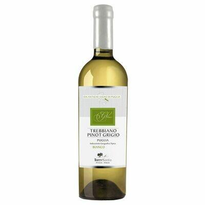 Grosspackung Torre Santa Trebbiano Pinot Grigio Puglia IGT 11,5 % vol 6 x 0,75 Liter = 4,5 Liter