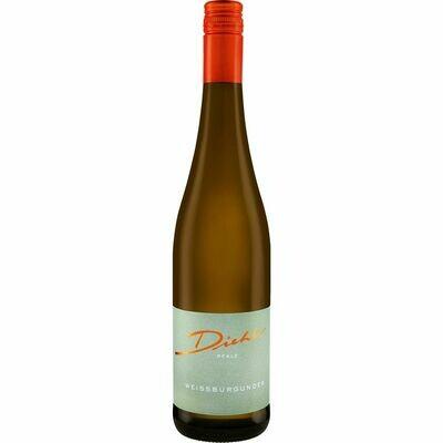 Grosspackung Weingut Diehl Weisser Burgunder Qualitätswein Pfalz trocken 13,0 % vol 6 x 0,75 Liter = 4,5 Liter